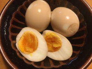 めんつゆで煮卵